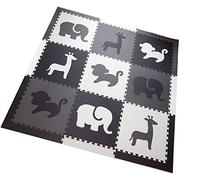 SoftTiles Safari Animals Kids Foam Play Mats w/Sloped Edges