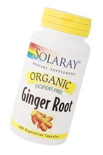 Solaray - Organic Ginger Root, 100 capsules