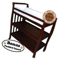 Solid Pine Baby Diaper Change Table with 2 Shelves