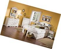 South Shore Summer Breeze Kids Bookcase Bed 4-Piece Bedroom