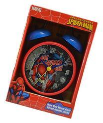 Spiderman Alarm Clock Twin Bell Marvel Spider Sense 6-1/2 x