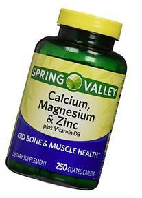 Spring Valley - Calcium Magnesium and Zinc, 250 Caplets