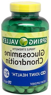 Spring Valley - Glucosamine Chondroitin, Triple Strength,