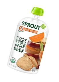 Sprout Organic Baby Food Stage 3 Pouches, Root Vegetables