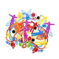 Sticky Stretchy Toy Assortment of 100 Pics