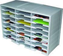 Storex 24-Compartment Literature Organizer/Document Sorter,