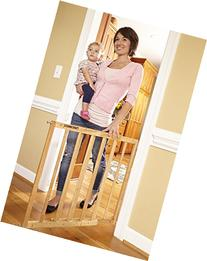 Stork Craft Easy Walk-Thru Wooden Safety Gate, Natural