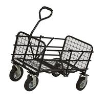 Strongway Folding Utility Cart - 49in.L x 25 1/2in.W, 330-Lb. Capacity