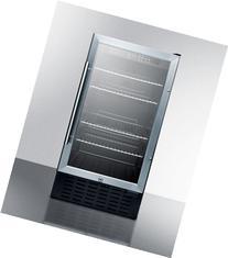 """Summit SCR1841B 18"""" Built-In Undercounter Glass Door"""