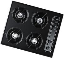 """Summit TTL03P 24"""" Wide Gas Cooktop With Cordless  Ignition"""