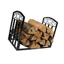 Sunnydaze Indoor/Outdoor Firewood Log Rack, Decorative