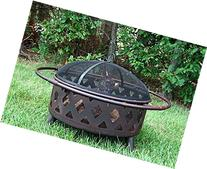 Sunnydaze 30 Inch Bronze Crossweave Wood Burning Fire Pit