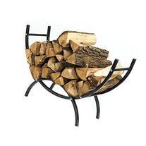Sunnydaze 3-Foot Curved Indoor/Outdoor Firewood Log Rack
