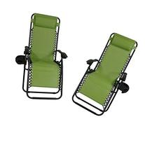 Sunnydaze Green Oversized Zero Gravity Lounge Chair with