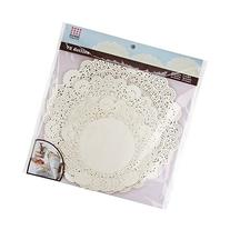 Sweet Creations 72 Count Round Lace Paper Doilies, Assorted