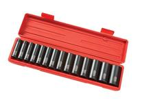 TEKTON 4880 1/2-Inch Drive Deep Impact Socket Set, Inch, Cr-
