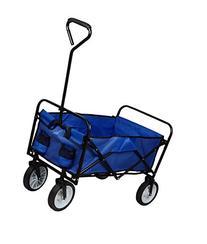 TMS Folding Collapsible Utility Wagon Garden Cart Shopping