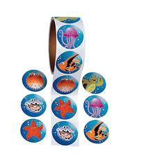 TROPICAL SEA LIFE ROLL STICKERS  - BULK