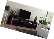 TV Stand MILANO 200 Black Body / Modern LED TV Cabinet /