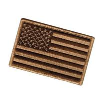 "Tactical USA Flag Patch - Desert Tan 2""x3"" Velcro Backing"