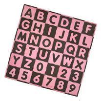 Tadpoles 36 Piece ABC Playmat Set Color: Pink / Brown