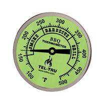 Tel-Tru BQ300 Barbecue Thermometer, 3 inch glow dial with