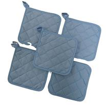 Sky Blue  10 Pack Pot Holders 6.5 Square Solid Color Everday