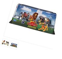 The Lion King - Lion Guard Birthday Cake Topper Figure Set Featuring Kion, Simba, Fuli, Timon with Pumbaa, Beshte with Ono Bunga and Other Decorative