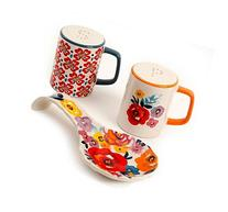 The Pioneer Woman Flea Market Floral Spoon Rest and Salt and
