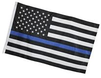 Thin Blue Line Flag - 3X5 Foot with Embroidered Stars and