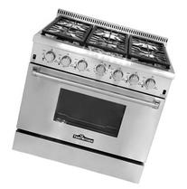 "Thor Kitchen 36"" Professional Style Gas Range with 6 Burners"