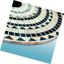 Tile Table Cover, Round Vesuvius Stone