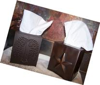 Tissue Box Holder - Decorative Tissue Box Cover - Rustic