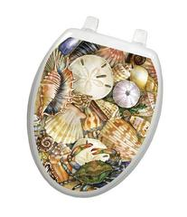 Toilet Tattoos TT-1077-O Tidal Treasures Seashells,