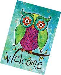 Toland Home Garden Rainbow Owl 12.5 x 18 Inch Decorative