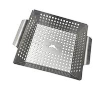 Tommy Bahama Stainless Steel Square Grilling Wok - High Side