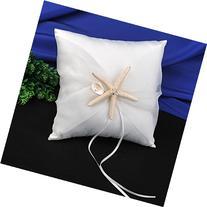 Topwedding Beach Theme Ivory Wedding Ring Bearer Pillow with