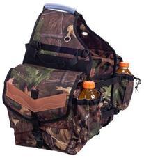 Tough-1 Multi-Pocket Insulated Nylon Saddle Bag in Prints
