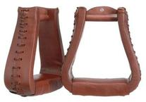 Oversized Leather Stirrups Medium Oil