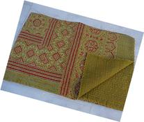 Tribal Asian Textiles Indian Handmade Block Print Kantha