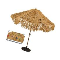 Tropical Express Raffia Colored Tiki Luau Umbrella Cover, 9-