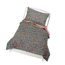 Twin Multicolor Herringbone  Duvet Cover Set with 1