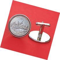 US 1999 New Jersey State Quarters Bu Unc Coins Cufflinks NEW