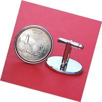 US 2003 Maine State Quarters Bu Unc Coins Cufflinks NEW
