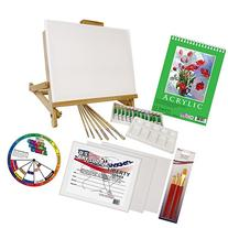 US Art Supply 33 Piece Custom Artist Acrylic Painting Set