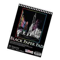 US Art Supply 9 in. x 12 in. Premium Black Heavyweight Paper