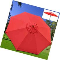 Umbrella Replacement Sunshade Canopy Top 9 Ft Diameter 8-rib