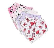 Unik Occasions Baby Girls Bandana Drool Bib Made from 100%