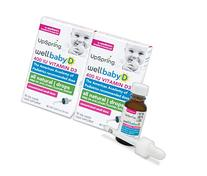 UpSpring Baby: Wellbaby D, Baby Vitamin D3 Drops, 2 Boxes