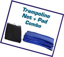"""Upper Bounce """"Super Trampoline Safety Net & Blue Pad Combo"""